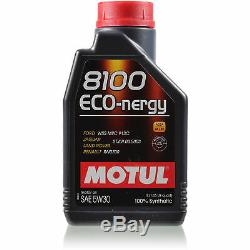 10L Motul 8100 Eco-nergy 5W30 Motoröl für Ford Jaguar Land Rover Renault Tasche