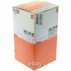 10x Original MAHLE / KNECHT Ölfilter OX 774D + 10x SCT Motor Flush Motorspülung