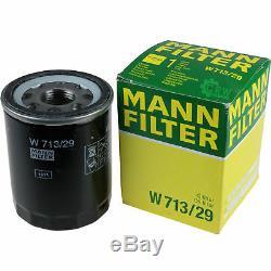 10x Original MANN Ölfilter W 713/29 + 10x SCT Motor Flush Motorspülung