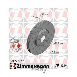 2 Bremsscheibe ZIMMERMANN 290.2270.52 SPORT COAT Z passend für JAGUAR