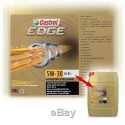 20 L Liter Castrol Edge Fluid Titanium 5w-30 A5/b5 Motor-öl Motoren-öl 50000240