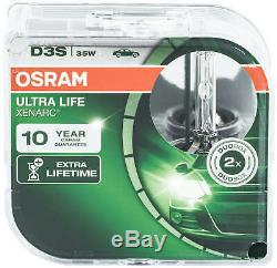 2X D3s Osram Xenon Lampe Brenner Xenarc Scheinwerfer Birnen Birne Ultra Life 35W