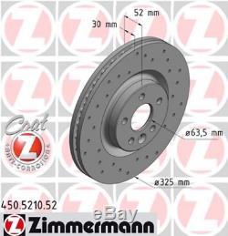 2x Bremsscheibe für Bremsanlage Vorderachse ZIMMERMANN 450.5210.52