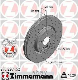 2x NEU ZIMMERMANN 290.2269.52 Bremsscheibe für JAGUAR