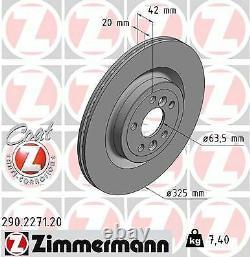 2x NEU ZIMMERMANN 290.2271.20 Bremsscheibe für JAGUAR LAND ROVER