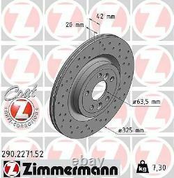 2x NEU ZIMMERMANN 290.2271.52 Bremsscheibe für JAGUAR