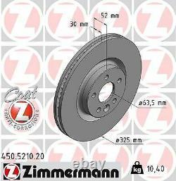 2x NEU ZIMMERMANN 450.5210.20 Bremsscheibe für JAGUAR LAND ROVER