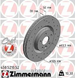 2x NEU ZIMMERMANN 450.5210.52 Bremsscheibe für LAND ROVER