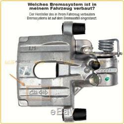 2x TRW Bremssattel + ORIGINAL Bremsflüssigkeit DOT 4 AUDI A3 SEAT VW GOLF hinten