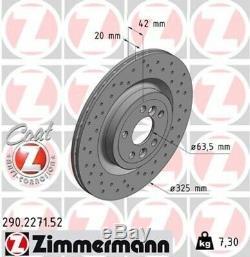2x ZIMMERMANN Bremsscheibe Bremsscheiben Satz Bremsen SPORT COAT Z Hinten