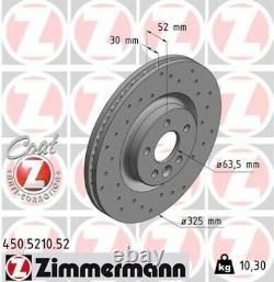 2x ZIMMERMANN Bremsscheibe Bremsscheiben Satz Bremsen SPORT COAT Z Vorne