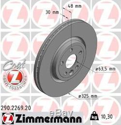 2x ZIMMERMANN Bremsscheibe COAT Z 290.2269.20 für XF LANDROVER X260 JAGUAR vorne
