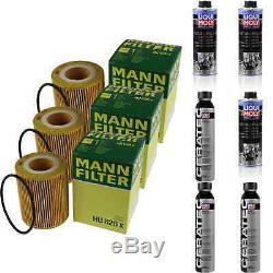 3xMANN-FILTER ÖLFILTER-HU 826 x +3xLiqui Moly Pro-Line Motorspülung/3x Cera Tec