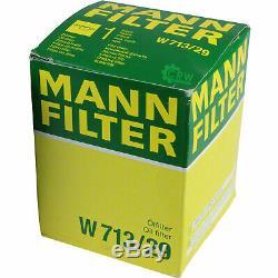 3xMANN-FILTER ÖLFILTER-W 713/29 +3xLiqui Moly Pro-Line Motorspülung/3x Cera Tec