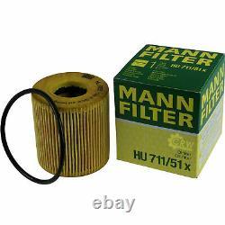 3xMANN ÖLFILTER-HU 711/51 x +3xLiqui Moly Pro-Line Motorspülung/3x Cera Tec