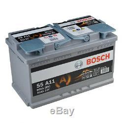 Bosch S5 A11 AGM VRLA Start-Stop Starterbatterie 80Ah Autobatterie NEU