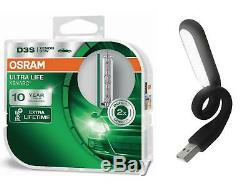 D3S 42V XENARC Ultra Life bis zu 10 Jahre Garantie 2St OSRAM + USB Licht