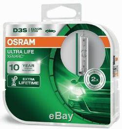 D3S Ultra Life bis zu 10 Jahre Garantie 2St OSRAM + LEDInspect Flashlight 15