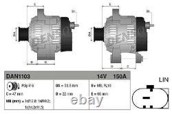 DENSO Lichtmaschine Generator Lima DAN1103 für JAGUAR ROVER LANDROVER RANGE L320