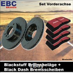 EBC Bremsen Set Vorderachse Blackstuff Bremsbeläge Black Dash Scheiben 20404