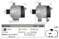 Lichtmaschine Generator Lima DENSO DAN1103 für LANDROVER RANGE ROVER SPORT L320