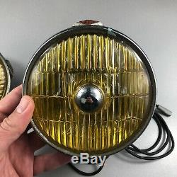 MILLER AMBER FOG LAMP TUNGSTEN IODINE CLASSIC CAR SCOOTER 1960s NOS