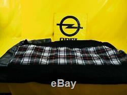 NEU + ORIG Opel Oldtimer Sitzbezug karriert Satz Bezug Polster Stoff Rückwand