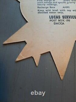 NOS LUCAS Battery Sign Tag Aston Rover Jaguar original equipment