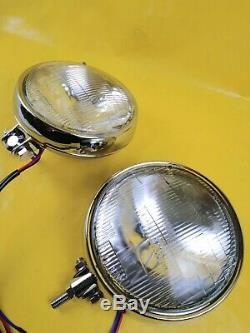 New Set Driving Lights Universal Vauxhall Custom Headlights Fog Light