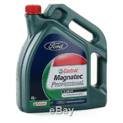 ORIGINAL Ford Inspektionskit + 3x Zündkerze + 5 L 5W20 Motoröl für 1.0 EcoBoost