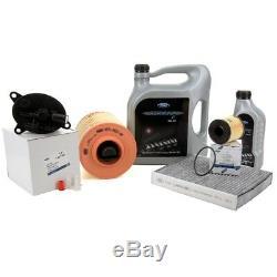 ORIGINAL Ford Inspektionskit + 6L Motoröl 5W30 für GALAXY MONDEO S-MAX 2.2TDCi