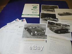Original 1980 Jaguar Rover Triumph Press Kit TR7 Convertible Spitfire MGB Jaguar