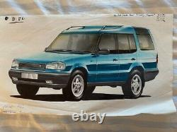 Original Concept Drawing of New Land Rover Discovery Tempest 5 Door From 1995