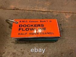 Rare Docker Brothers Flowline Set Of Motor Car Colours BMC JAGUAR ROVER