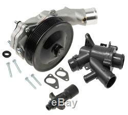 Water Pump with Bolts Gaskets Connector + Thermostat Kit Jaguar Land Rover V8 5.0L