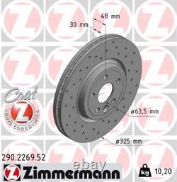 Zimmermann Sport Bremsscheiben für JAGUAR XF (X260) vorne