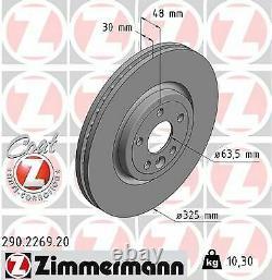 2x Neu Zimmermann 290.2269.20 Bremsscheibe Für Jaguar Land Rover