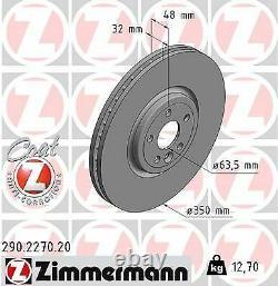 2x Neu Zimmermann 290.2270.20 Bremsscheibe Für Jaguar Land Rover