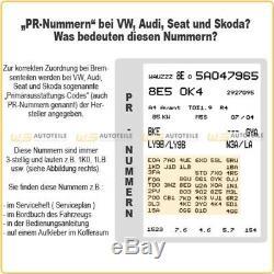 2x Trw Bremssattel + Siège Ordinaire Bremsflüssigkeit Dot 4 Audi A3 Vw Golf
