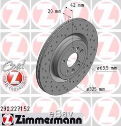 2x Zimmermann Bremsscheibe 290.2271.52 Für Jaguar