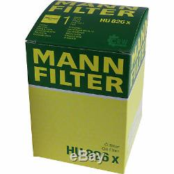 3xmann-filtre Ölfilter-hu 826 X + 3xliqui Moly Pro-line Motorspülung / 3x Cera Tec
