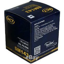 40x Moteur Sct Original Sct Ölfilter Sm 143 + 40x Sct