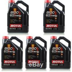 5x5 Litres D'origine Motul 102898 8100 Eco-nergy 5w30 Öl Motoröl