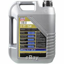 6 Litres Liqui Moly Motoröl Set Spécial Tec F 5w-30 Motorprotect Motor Clean