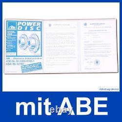 Ate Powerdisc Bremsscheiben + Céramique Beläge Vorne Für Ford Mondeo 4 IV Ba7