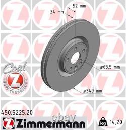 Bremsscheiben Vorne Für Range Rover Ecoque 18 Zoll 349x34mm Zimmermann