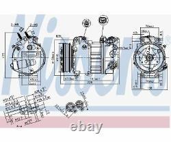 Compresseur Nissens, Climatisation 890124
