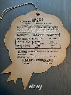 Étiquette De La Batterie Nos Lucas Aston Rover Jaguar Équipement D'origine
