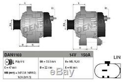 Générateur Lichtmaschine Lima Denso Dan1103 Für Landrover Range Rover Sport L320