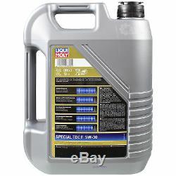 Inspektionskit Filtre Liqui Moly Öl 5l 5w-30 Für Ford Fiesta VI B-max Jk 1,6